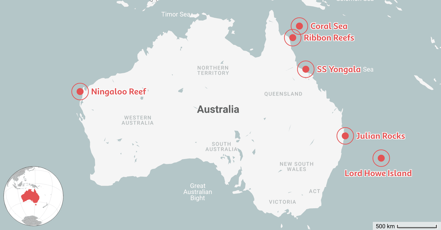 We Mapped the 6 Best Places to Dive in Australia
