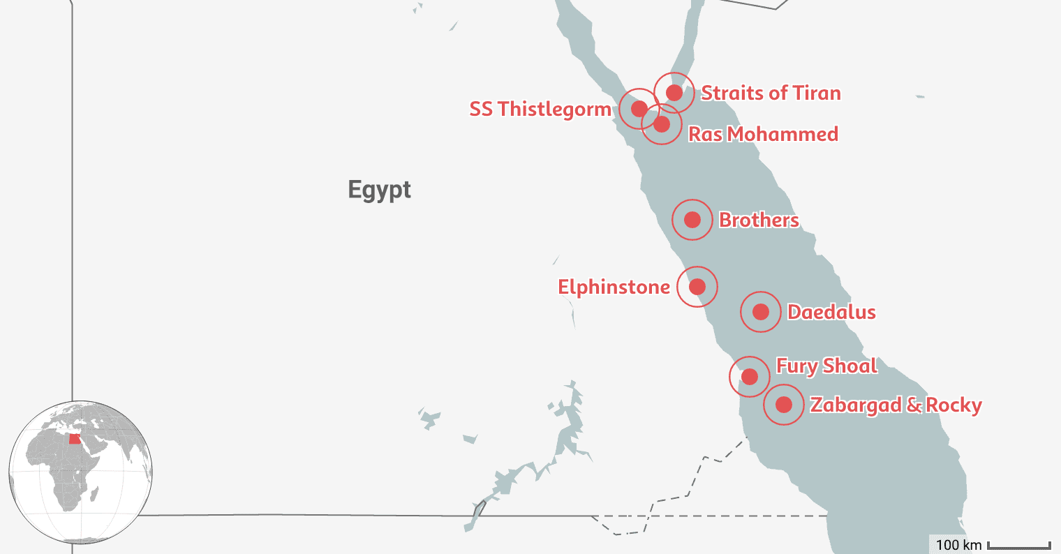Mapped: 8 Best Places to Dive in Egypt