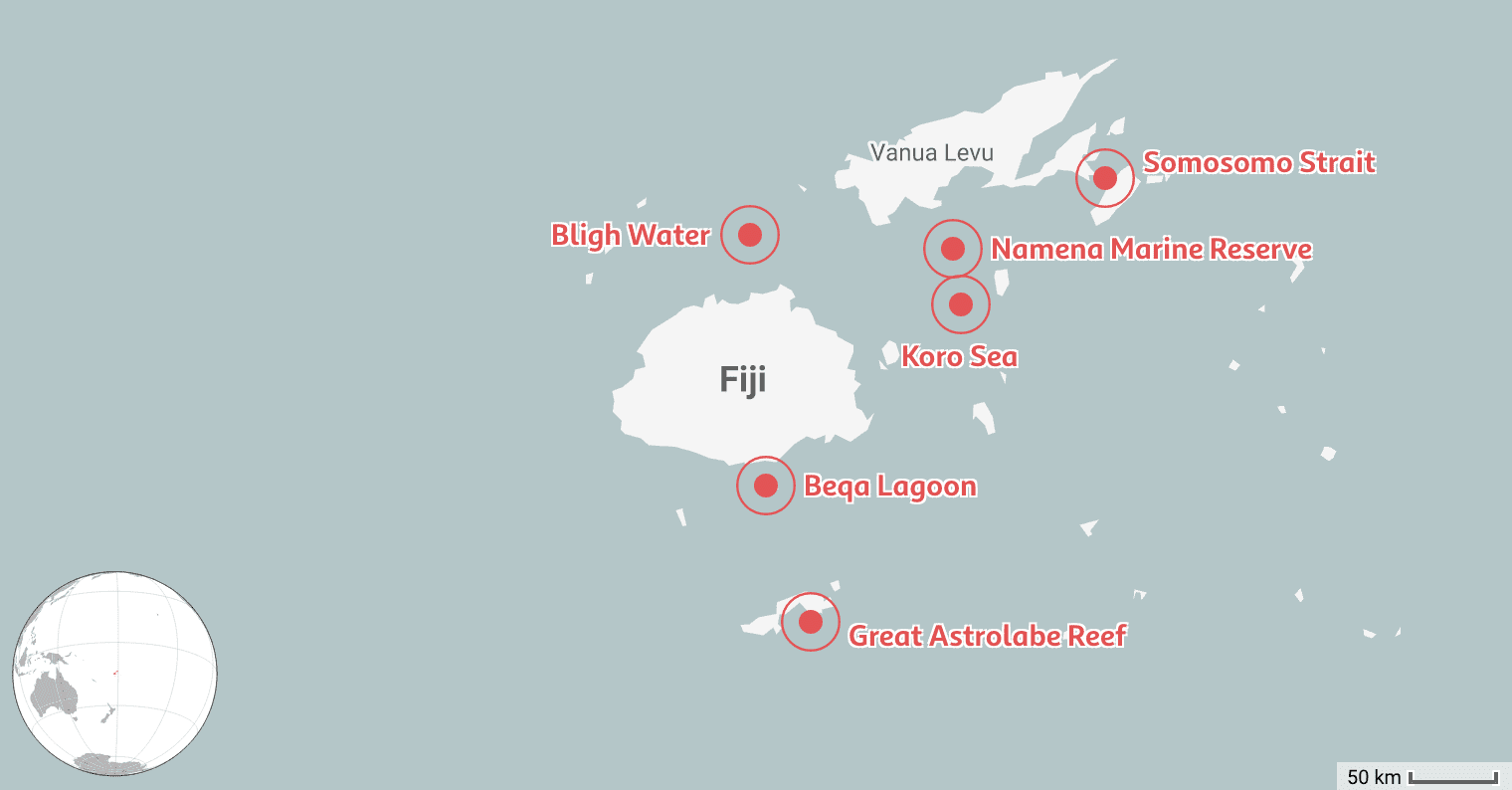We Mapped the 6 Best Places to Dive in Fiji