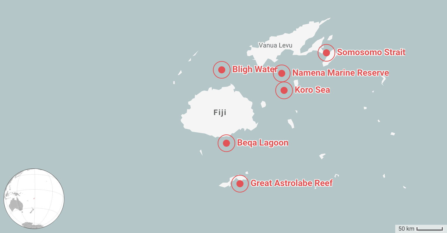 Best Places for Diving in Fiji