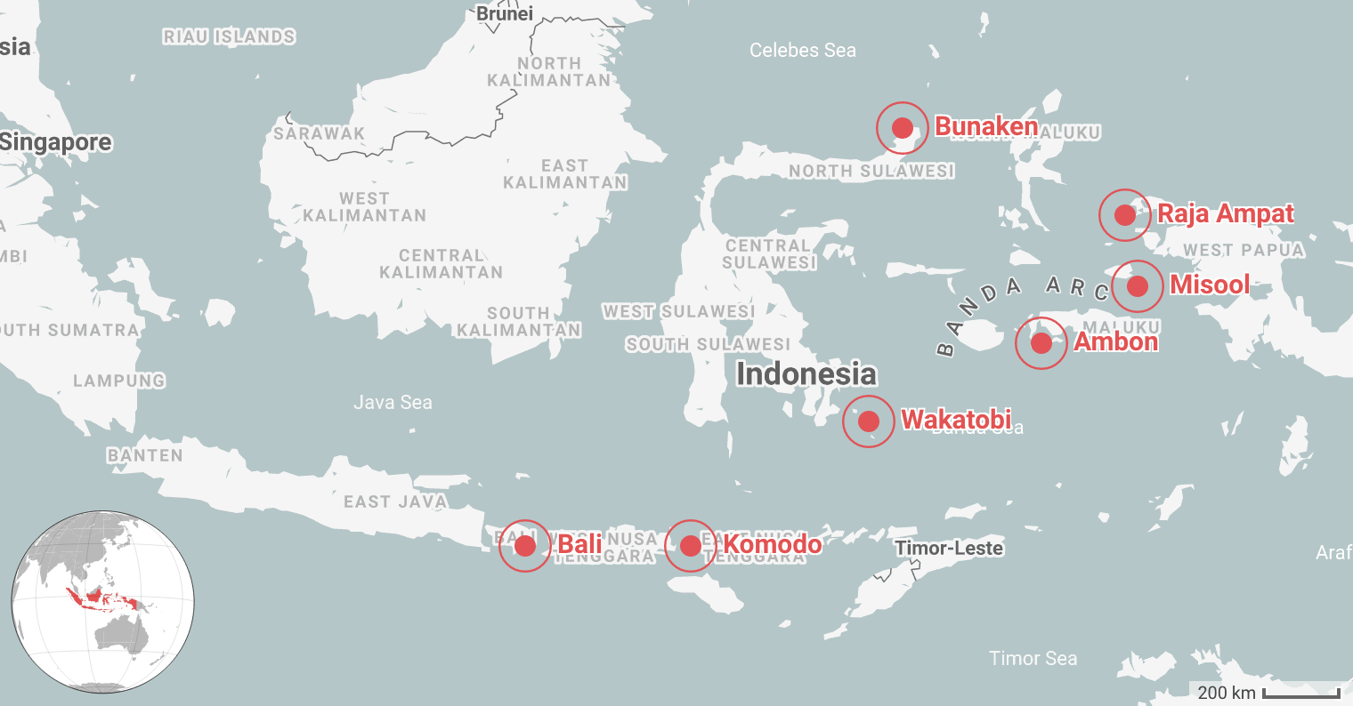 Best Places for Diving in Indonesia